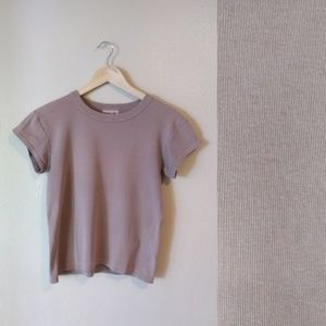 Michael Stars Knit Stretch Tee One Size Fits Most